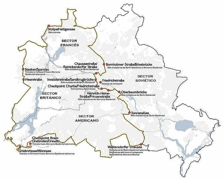 croquis de Berlín y pasos fronterizos