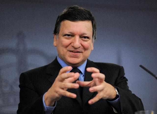 Comisión Europea reclama a España retrasar edad de jubilación y recortar pensiones Barroso_madrid_feb11