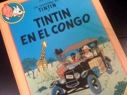Portada de Tintin en el Congo, de Hergé