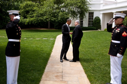 Obama y Netanyahu, en Washington, mayo 2011