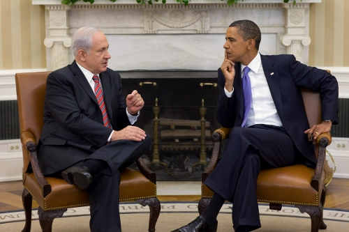 Barack Obama y Benjamín Netanyahu en Washington, sept. 2010