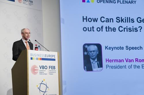 H. van Rompuy en la European Business Summit