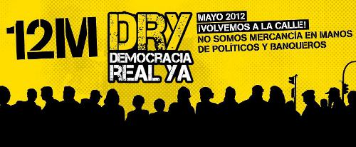 Cartel del 12M de Democracia Real Ya