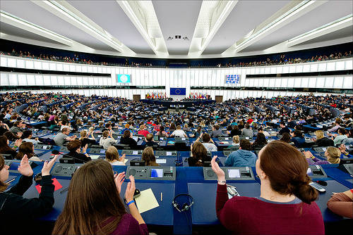 Applause for the closing speech of the #EYE2014